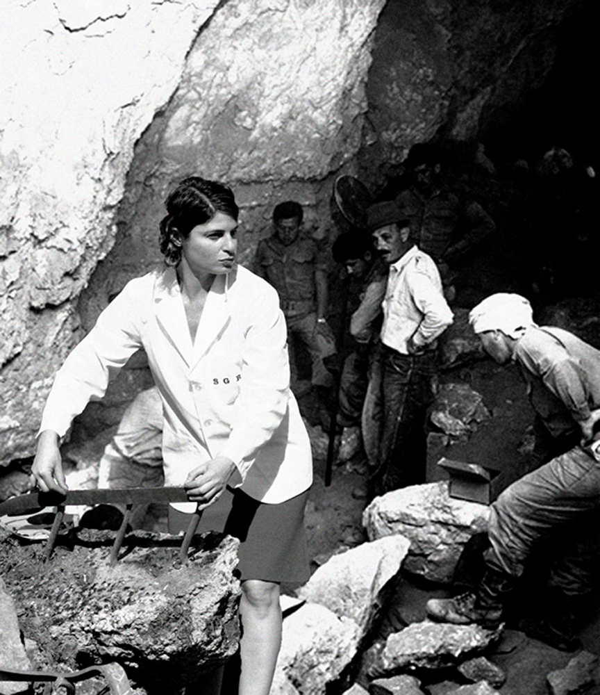Israeli archaeologist Yigael Yadin (1917 - 1984) at the excavation site of the Dead Sea Scrolls in Wadi Qumran, circa 1953. (Photo by Express/Archive Photos/Getty Images)